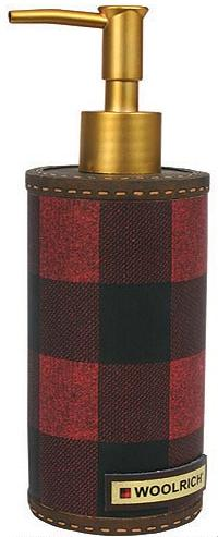 Red Plaid  bathroom Soap/Lotion Dispenser Pump