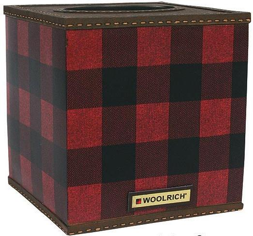 Red Plaid  bathroom Tissue Box Holder