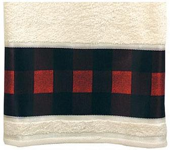 Red Plaid  bathroom Bathroom Bath Towels