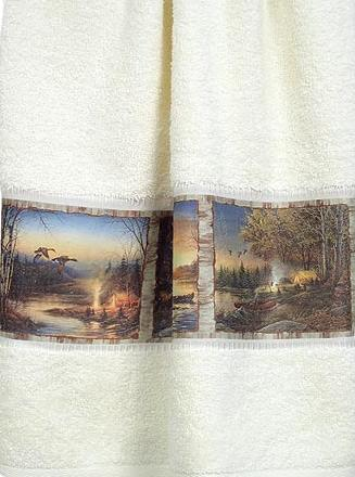Terry Redlin  bathroom Bathroom Bath Towels