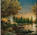 Terry Redlin bathroom shower curtains