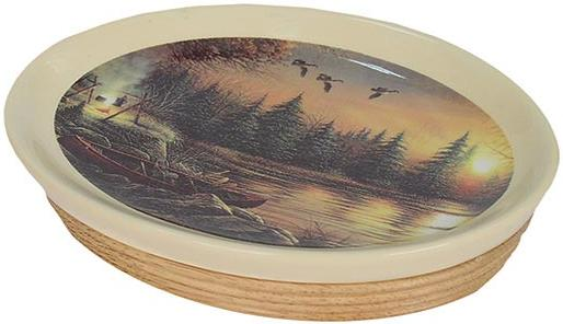 Terry Redlin bathroom soap dish