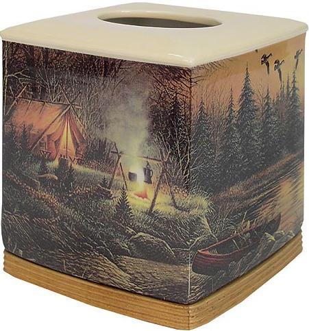 Terry Redlin  bathroom Tissue Box Holder