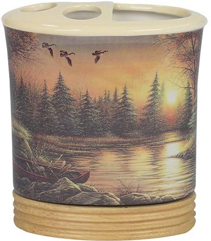 Terry Redlin  bathroom Toothbrush Holder