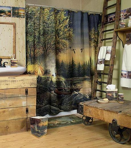 Terry Redlin bathroom accessories room shot