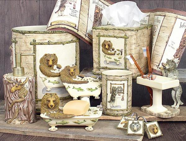 Wildlife  bathroom Accessories Set