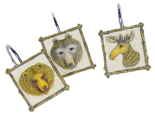 Wildlife  bathroom Shower Curtain Hooks