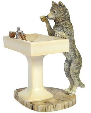 wolf bathroom accessories hautman brothers howling wolf With wolf bathroom accessories